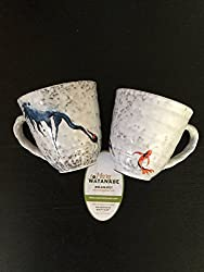 Hand painted koi coffee tea mugs for koi pond fish enthusiasts