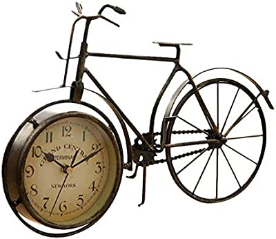 LEIHALA Reloj de Mesa Tipo Bicicleta de Hierro Vintage Reloj ...
