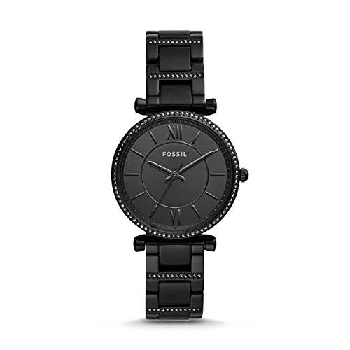 Fossil Damen Analog Quarz Uhr mit Edelstahl Armband ES4488
