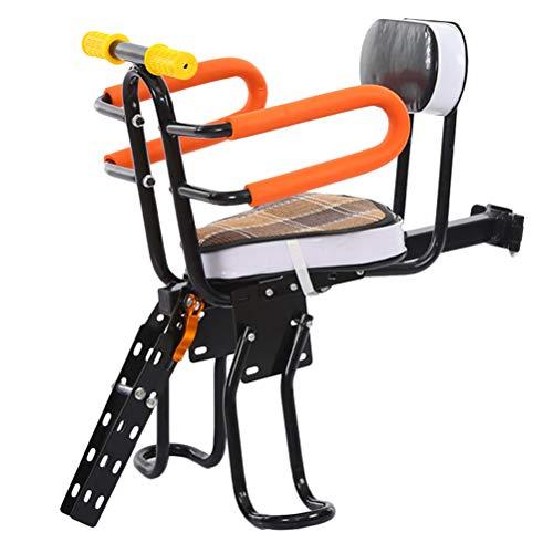 ABOOFAN Safety Seat Mountain Bike Folding Front Saddle Cushion for Toddler Kids (Black)