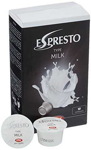 ESPRESTO K-Fee Milchkapsel für Kaffee & Tee, Milch, Crema Latte, 16 Kapseln