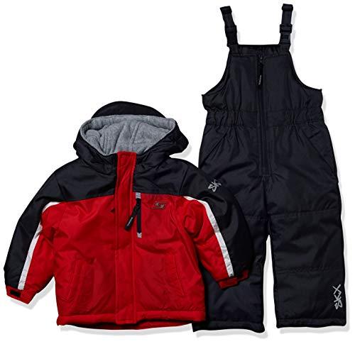 Skechers Boys' Toddler 2-Piece Heavyweight Snowsuit, red, 2T