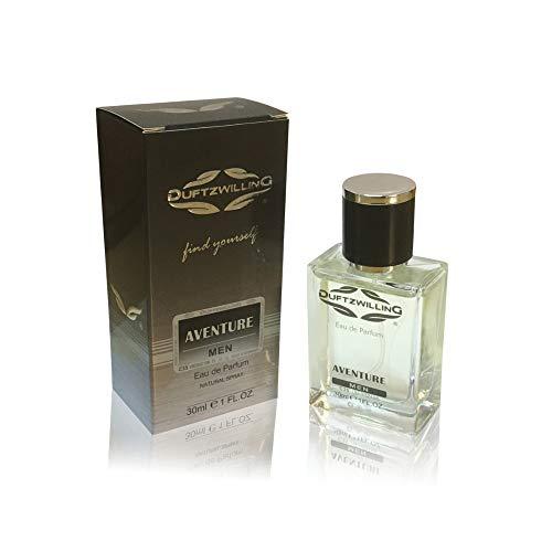 AVENTURE - VIP MEN Eau de Parfum für HERREN von DUFTZWILLING ® ~ ORIGINAL fruchtig-rauchig (30 ml)