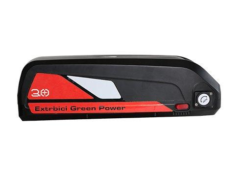 Extrbici 1000 W 48 V 13 Ah li-Batteria per Cyrusher XF800 4.0 Fat Pneumatico Bici elettrica, xf800-battery-red, Red-con Caricatore