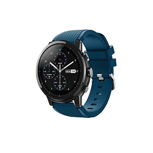 ZZKHFA 20 Colores Correa para Huawei Honor Magic Watch 2 GT GT2 GT 2 46mm 22mm Reloj Banda Banda Silicona Deporte reemplazo Relojes (Band Color : Cyan Blue, Band Width : 22mm)