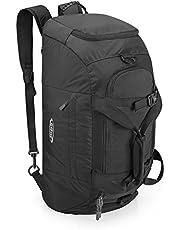 G4Free 3-weg reis-duffel rugzak 40 l bagage gym sporttas met schoenenvak, zwart (zwart) - ..