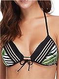 Body Glove Damen Baby Love Molded Cup Push Up Triangle Top Swimsuit Bikini, Samoa Schwarz, Medium