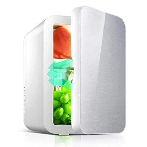 Mini Nevera, 8 l, Gran Capacidad, portátil, de Doble Uso, refrigerador Personal Compacto, para Dormitorio, Oficina, Dormitorio, Coche, Viaje, Caravana para el Cuidado de la Piel y cosméticos(YO)
