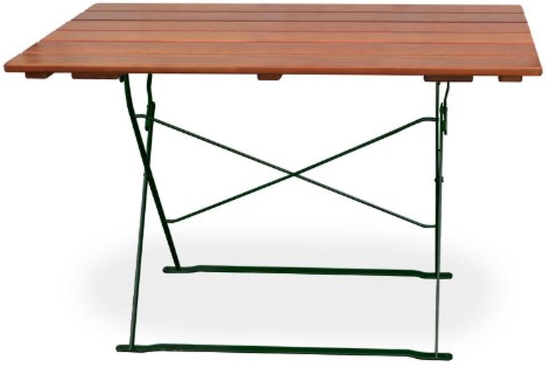 Biergartentisch 120x70 cm EuroLiving Edition-Classic ocker grün