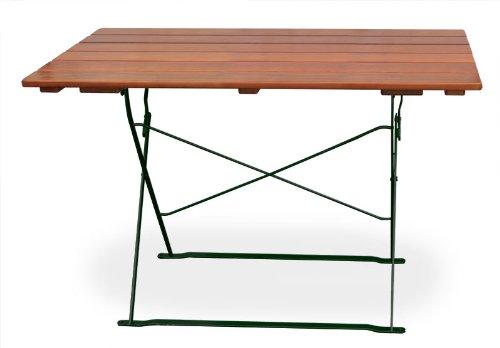 EuroLiving Biergartentisch 120x70 cm EuroLiving Edition-Classic ocker/grün