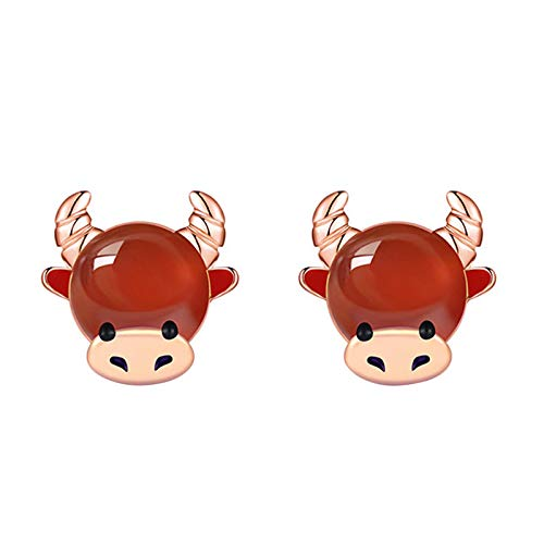 WEDC Unique and unique red zodiac earrings, suitable for women and girls to declare jewelry gifts
