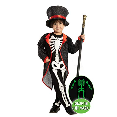 Spooktacular Creations Happy Skeleton Costume Toddler Child Glow in The Dark for Kids...