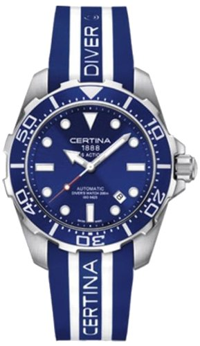 Certina - Reloj Analógico de Automático para Hombre, Correa de Goma Color Multicolor