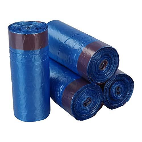 Bringer 200 Bag Bolsas de basura con cordón, azul, bolsas de basura de 20 L