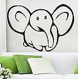 Wandaufkleber 59X41 cm Niedlicher Baby-Elefant Wandaufkleber Kinderzimmer Wandtattoo Vinyl Aushöhlen Abnehmbare Aufkleber Selbstklebende Tapete Wohnkultur