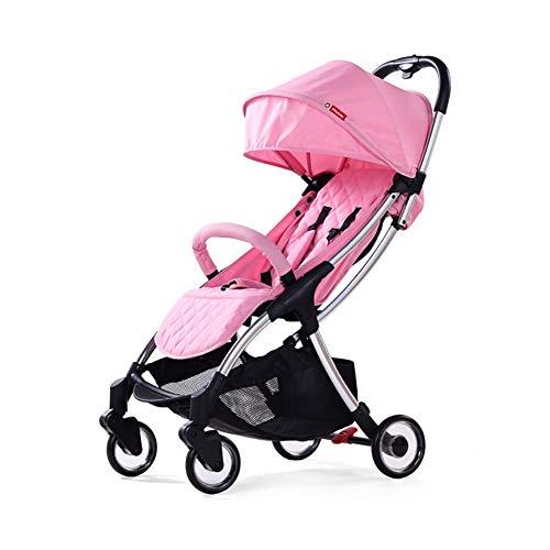 Triciclo plegable para bebé, triciclo para niños Triciclo para niños, cochecito de paraguas, cochecito plegable ligero con respaldo ajustable, absorción de impactos en las cuatro ruedas, cuatro esta