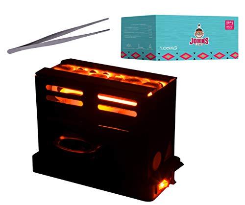 DIAMOND HOOKAH Premium Shisha Kohleanzünder Toaster elektrisch für Shisha Kohle + 1KG Kohle + Zange, Kohlen Ofen 800 Watt, Kohlenanzünder elektrisch