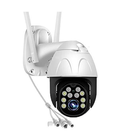 XIAOSHEN Detección de Movimiento de la cámara IP 1080P HD WiFi PTZ, Alerta de Correo electrónico, IP66 a Prueba de Agua, con Tarjeta 64G, Soporte de Almacenamiento en la Nube