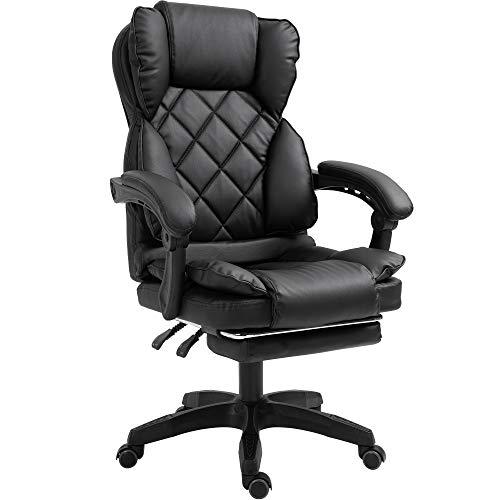 Schreibtischstuhl Design Bürostuhl TV Sessel Chefsessel Relax & Home Office, Farbe:Schwarz