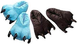 Kit 2 Pantufas Azul e Preta Pata de Garra Calça 35 a 39