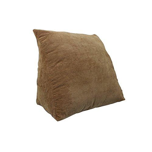 coussins pour Canapé/Chevet/Bureau Triangle Coussin De Coussin De La Taille Pleine Couleur Amovible 48 * 48 * 28CM (Couleur : Marron, taille : 3 pounds58cm)