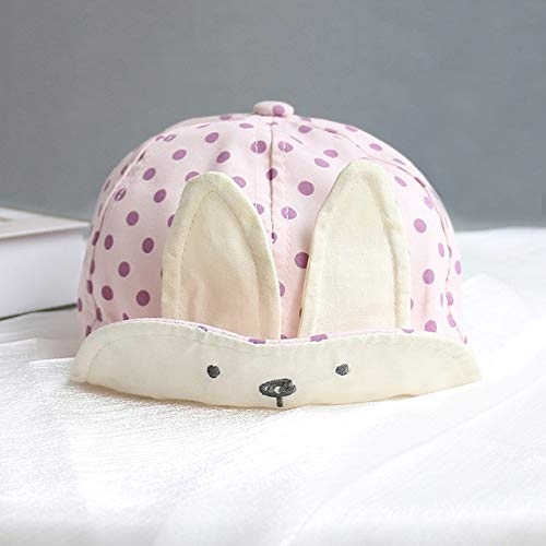 Bonita Gorra de bebé con número Bordado, Gorra de béisbol para bebé, Primavera, Verano, niños, Sombrero de algodón para el Sol, Sombreros con Visera al Aire Libre para niñas pequeñas-Pink Style 2