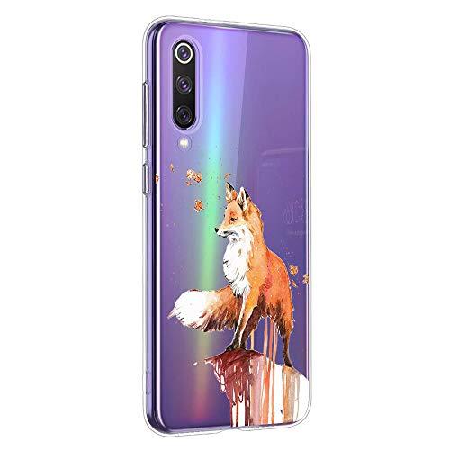 Oihxse Compatible con Xiaomi Mi MAX 3 Funda Suave Gel TPU Silicona Cristal Transparente Carcasa Acuarela Animal Pintado Patrón Protectora Estuche Bumper Caso Case (B9)