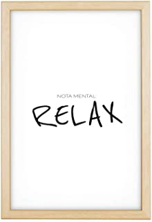 Láminas Decorativas para enmarcar colección Mensajes | Relax | Tamaño 20x30cm, 30x40cm, 50x70cm (30 x 40 cm con Marco en Madera)