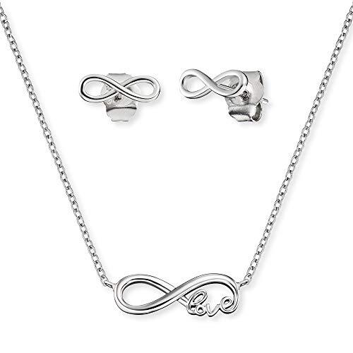 Engelsrufer Set ERMT-LILINFINITY Halskette und Ohrstecker Sterling Silber