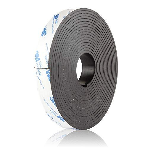 BOWMAN Premium Magnetband | Extra Breit, Extra Stark | Selbstklebend und individuell zuschneidbar | Magnetklebeband mit kostenlosem Ratgeber (5 Meter)