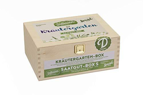 Saatgut Dillmann S19 Kräutergarten Saatgut-Box S (Holzbox) (Samen-Set)
