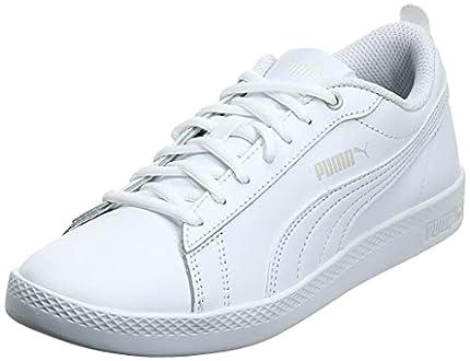 PUMA Smash Wns v2 L, Zapatillas Bajas Mujer, Blanco (White/White), 39 EU