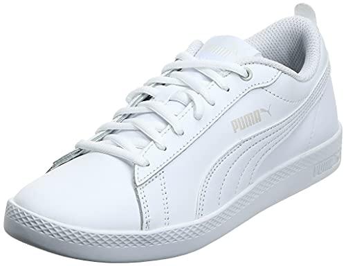 PUMA Smash Wns v2 L, Zapatillas Bajas Mujer, Blanco (White/White), 37 EU