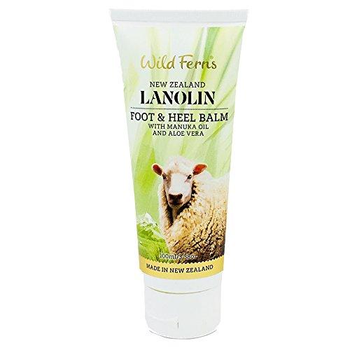 Wild Ferns Lanoline Pied et du talon Baume à l'huile de Manuka et Aloe Vera 100 ml