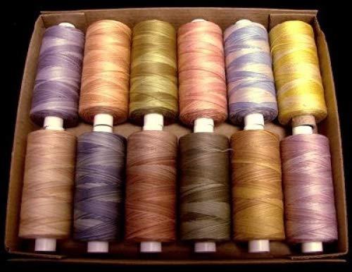 Best Buy! Valdani Quilting Threads - Muddy Monet - 50 Weight Cotton Thread