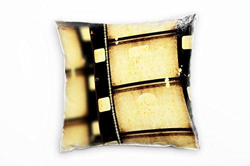 Paul Sinus Art Retro en Vintage, Macro, Sepia, oude rol film decoratieve kussen 40x40cm voor bank bank bank lounge sierkussen - decoratie om je goed te voelen