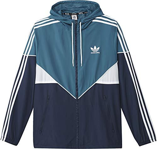 Mens adidas Originals Premiere Windbreaker Jacket in Blue