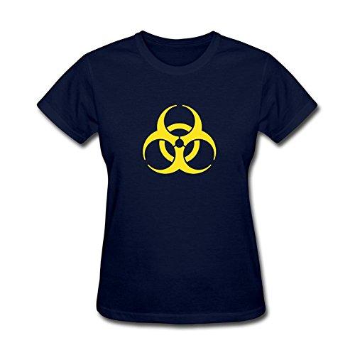 Kettyny - Camiseta de algodón con diseño de pandemia para mujer