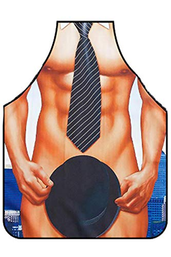 crazy bean Divertido Delantal Sin Mangas Creativo Sexy Belleza Muscular Hombres Cocina Hogar Personalidad Fiesta Boda Delantal de Dibujos Animados