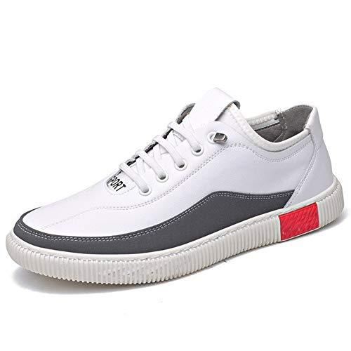Heren 2019 schoenen Mode Sneakers Voor Mannen Casual Wandelen Skate Schoenen Lace Up Ronde teen Platform Anti-slip Lederen Steek Kleur Bijpassende Wear Resistant Zacht