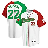 GYN Camiseta de Béisbol para Hombre, Dodgers #22, Camisetas de Secado Rápido, Camisetas de Béisbol de Moda para Aficionados, Camiseta de Manga Corta Transpirable,A,3XL