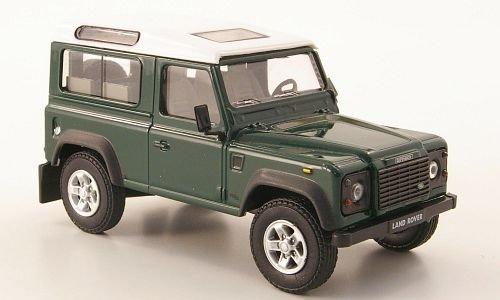 Land Rover Defender 90, dkl.-grün/weiss, Modellauto, Fertigmodell, Cararama 1:43