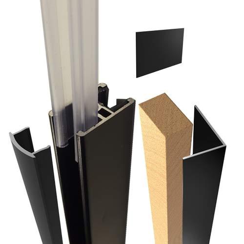 Kit de herramientas y accesorios para verrière con perfiles de aluminio recortables, color negro...