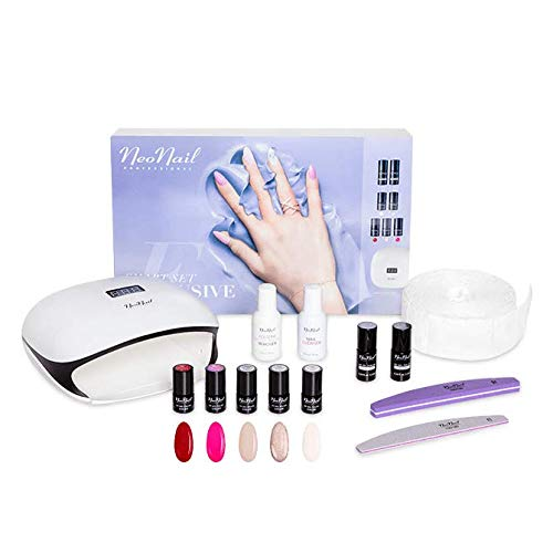 NeoNail Smart Set Exclusive 5x UV Nagellack 3ml LED Lampe 36W/48W + Zubehör NeoNail Nagelstudioset Geschenkbox Nagelstudio Set Nail Set