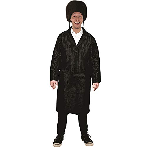 Dress Up America Disfraz de Rabino Judo Purim Bekitcha con Colores mltiples para nios, Multicolor, talla 4-10 aos (cintura: 71-82, altura: 99-127 cm) para Hombre