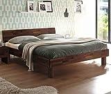 Hasena Fine Line Moderno Bett Forti 25 Nussbaum mit Kopfteil 180x200