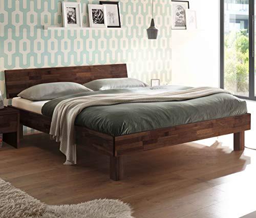Hasena Fine Line Moderno Bett Forti 20 Nussbaum mit Kopfteil 180x200
