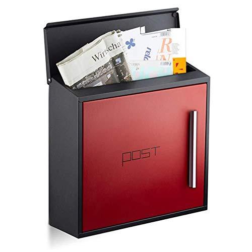 LILIS Briefkasten Wandbriefkasten inkl Letter Box Außenbriefkasten Edelstahl Briefkasten, Verschließbare Wetter außerhalb Postbox, Vertrauliches Letterbox (Color : Red)