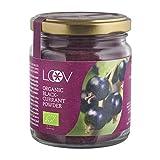 Bio Schwarze Johannisbeeren-Pulver: 100 g, Sehr Reich an Vitamin C, nur aus Beerenschalen und Samen, Ohne Zuckerzusatz, Ohne Zusatzstoffe, 20-Tage-Vorrat, aus Nordischem Klima in Europa, Superfood