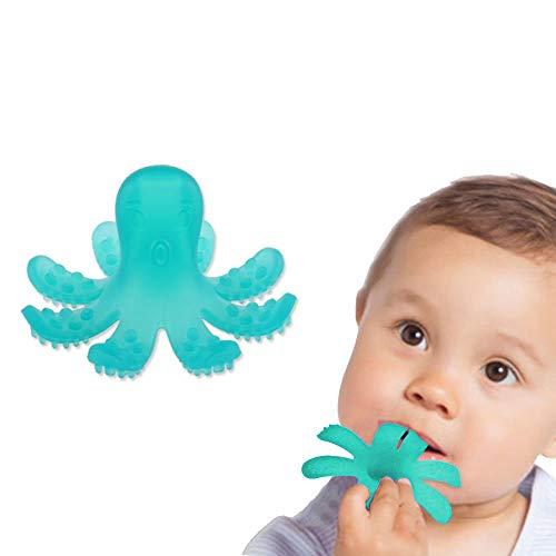 ZOSHING Mordedor Bebé,Anillo de Dentición,Pulpo Juguete y el 100% BPA de Silicona de Mordedor Gratis (Verde)